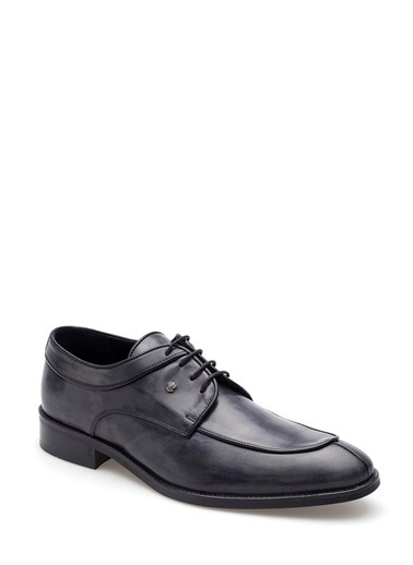 Pedro Camino Hakiki Deri Ayakkabı Lacivert